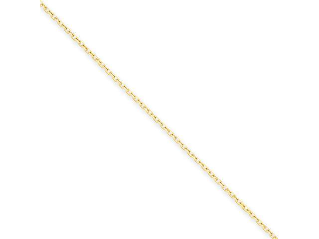 14k .75mm D/C Cable Chain