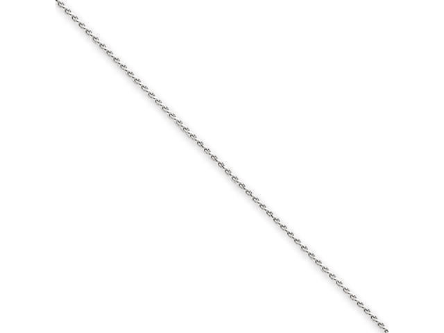 14k White Gold 1mm Solid D/C Spiga Chain