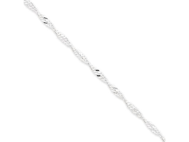 Sterling Silver 3.00mm Singapore Chain