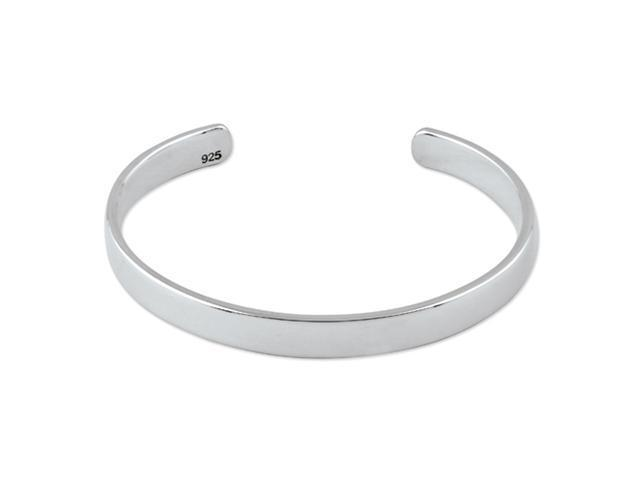 Sterling Silver 6.5mm Cuff Bangle
