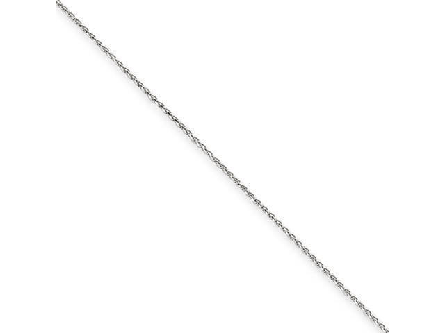 14k White Gold 1.2mm Solid D/C Spiga Chain