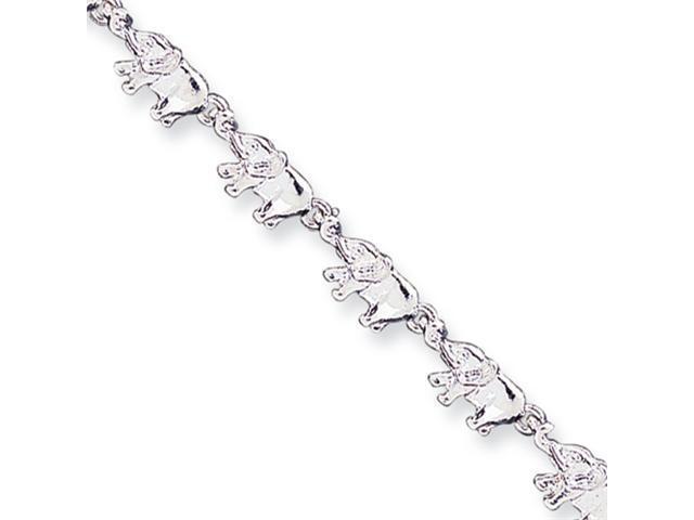Sterling Silver Elephants Bracelet