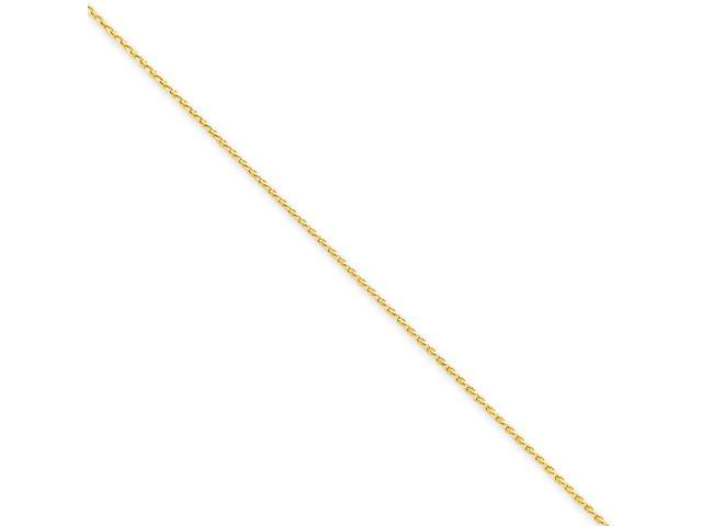 14K 1.2mm D/C Wheat Chain