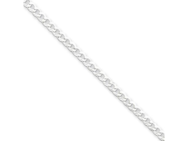 Sterling Silver 3.2mm Beveled Curb Chain