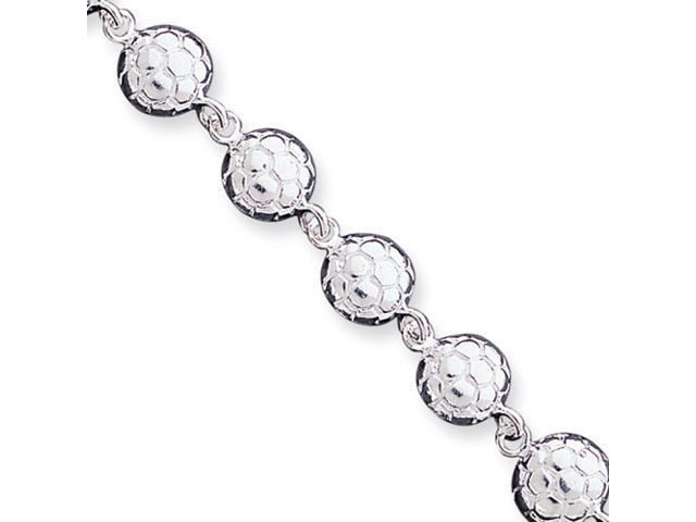 Sterling Silver Soccerballs Bracelet