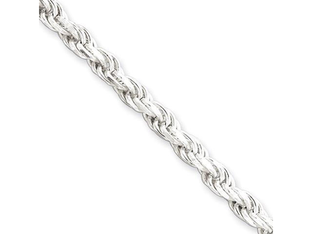 Sterling Silver 4.25mm Diamond-cut Rope Chain