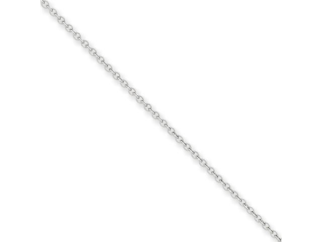 14k White Gold 1.6mm Cable Chain