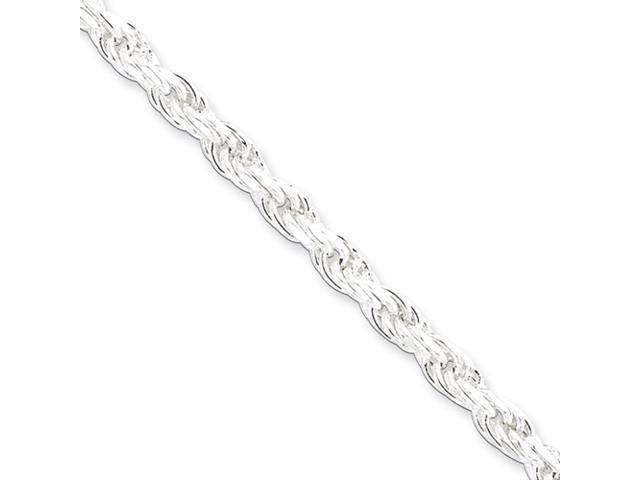 Sterling Silver 4.75mm Diamond-cut Rope Chain
