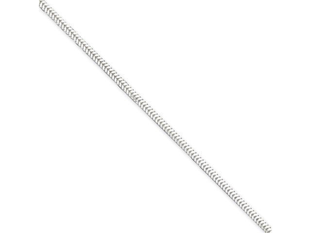 Sterling Silver 2.5mm Diamond-cut Snake Chain