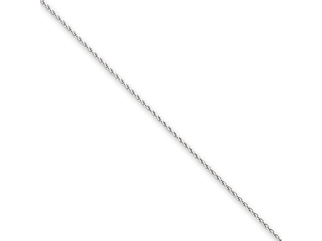 14k White Gold 1.0mm Pendant Chain