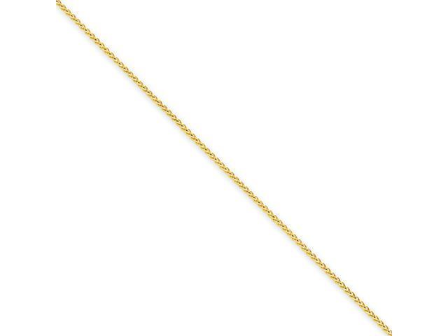 14k 1.0mm Round Wheat Chain