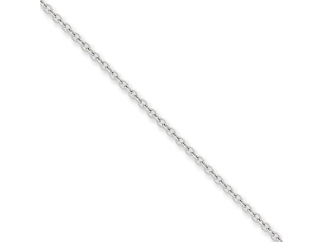14k White Gold 2mm Cable Chain