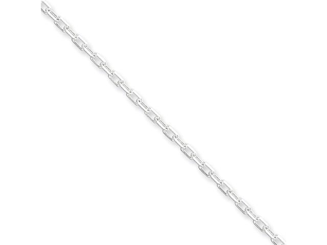 Sterling Silver Diamond-cut  Open Link Cable Chain