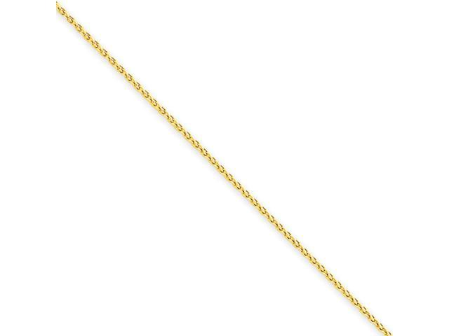 14k 1.2mm Round Wheat Chain