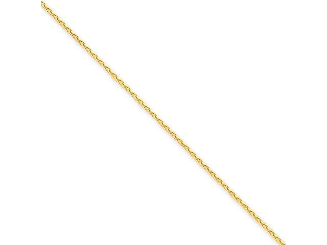 14k 1.4mm D/C Spiga Chain