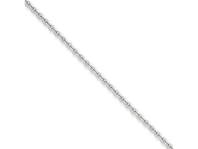 14k White Gold 2.20mm Cable Chain