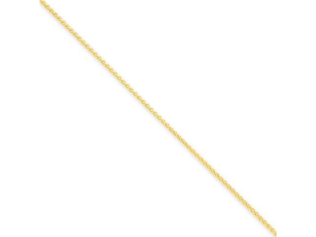 14k 1.1mm Solid Polished Spiga Chain