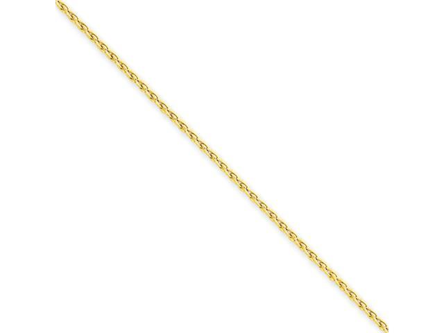 14k 1.5mm Round Wheat Chain