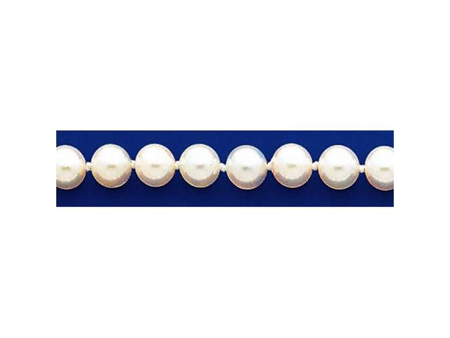 14k 6-6.5mm White Akoya Saltwater Cultured Pearl Necklace