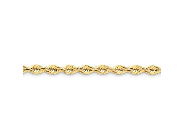 14k 6mm Handmade Regular Rope Chain