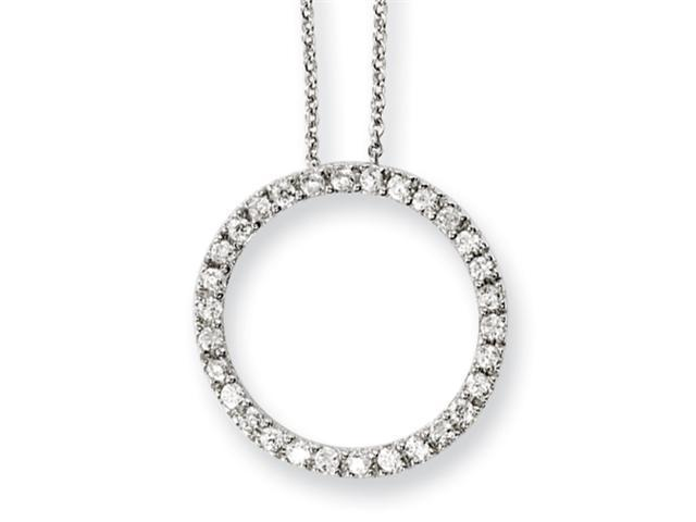 Sterling Silver CZ Circle 18