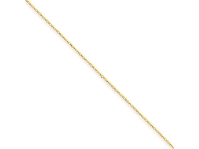 14k .8mm Cable Chain