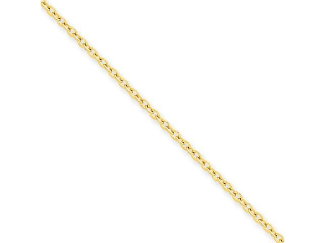 14k 2mm Cable Chain