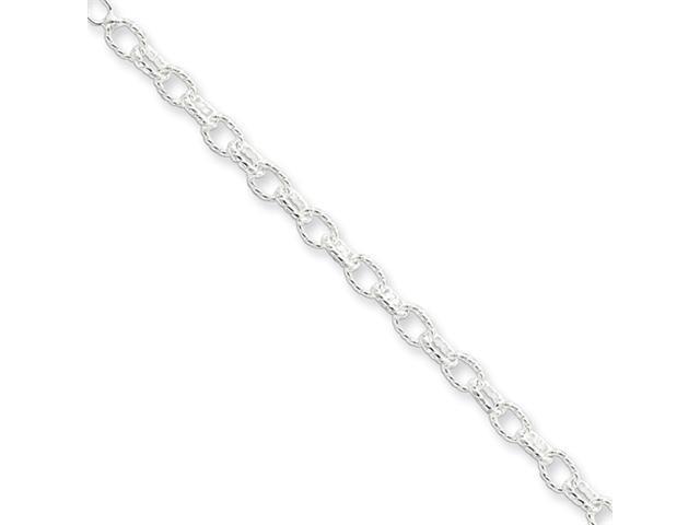 Sterling Silver 3.5mm Fancy Rolo Chain