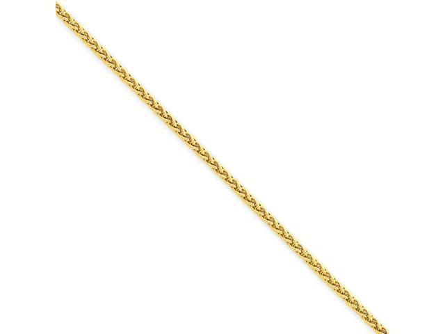 14k 1.9mm Round Wheat Chain