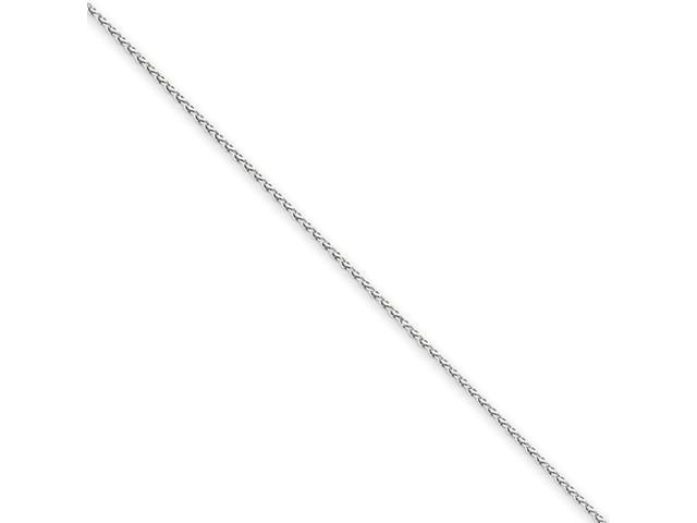 14k White Gold 1.0mm Round D/C Wheat Chain