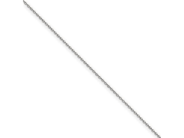 14k White Gold 1.5mm Solid Polished Cable Chain