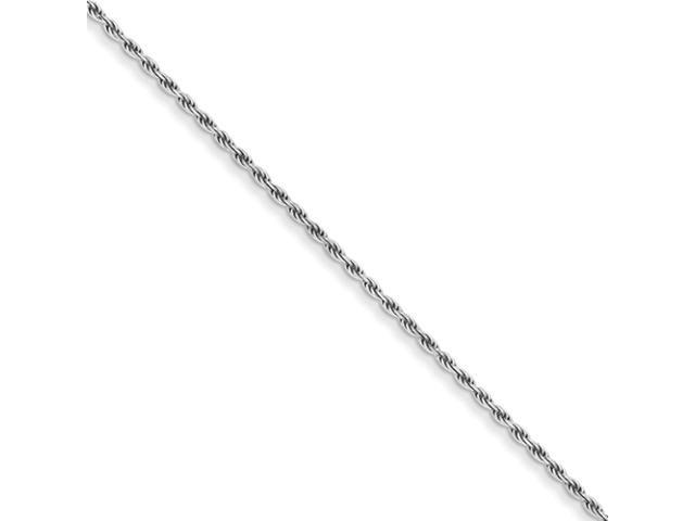 Sterling Silver 1.75mm Diamond-cut Rope Chain