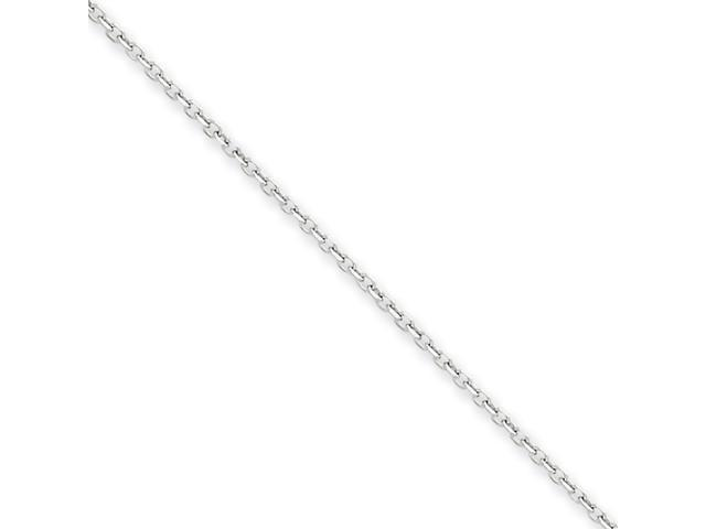 14k White Gold 1.45mm D/C Cable Chain