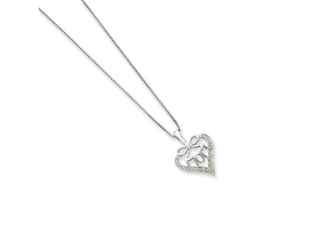 Sterling Silver Diamond Mom Necklace