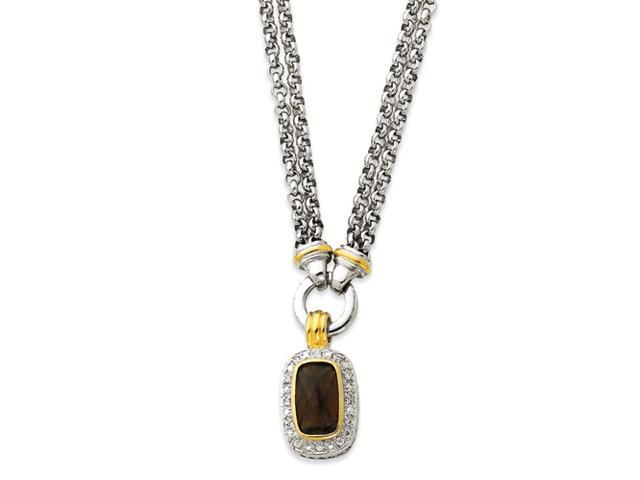 Sterling Silver Gold-plated CZ Necklace