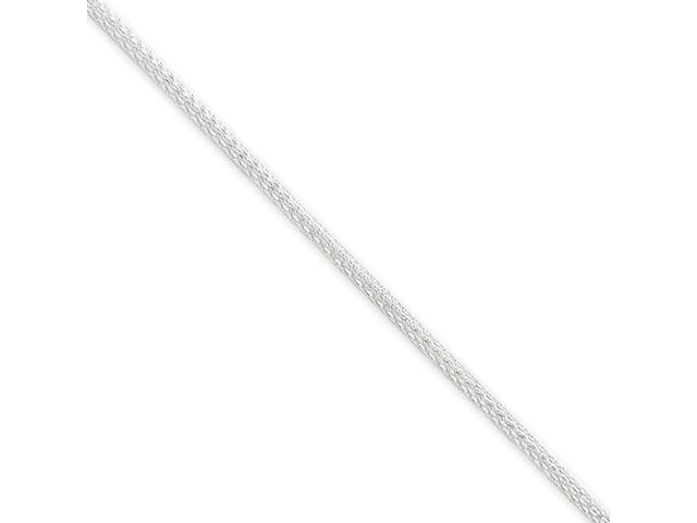Sterling Silver  2mm Hollow Polished Mesh Chain Necklace
