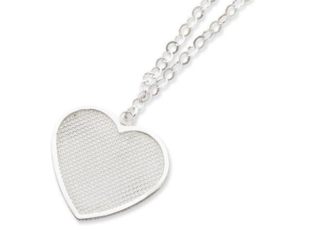 Sterling Silver Fancy Heart Necklace