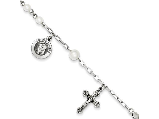 Sterling SIlver Cultured Pearl Rosary Bracelet