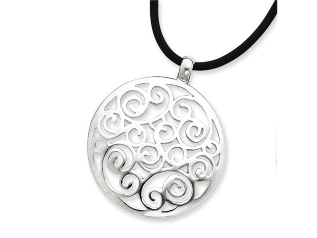 Sterling Silver Round Cord Necklace