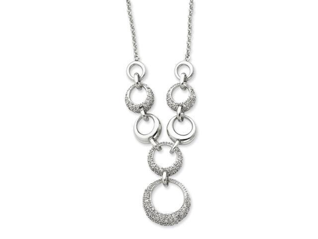 Sterling Silver CZ Circles Necklace