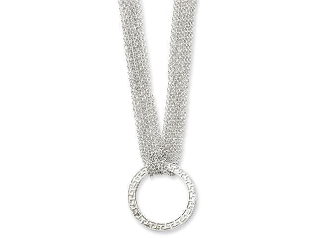 Sterling Silver Fancy Circle Necklace