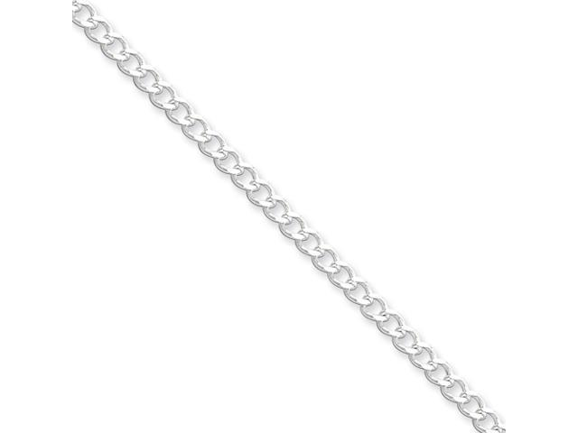 Sterling Silver 3.65mm Wide Curb Chain
