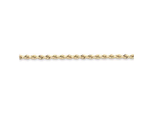 10k 3mm Handmade Diamond-cut Rope Chain