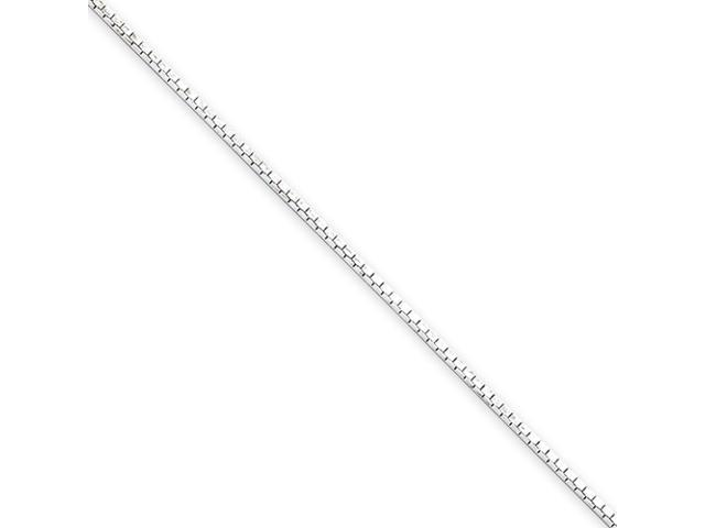 Sterling Silver .7mm 4 Sided Diamond-cut Mirror Box Chain