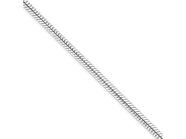Sterling Silver 3mm Round Snake Chain