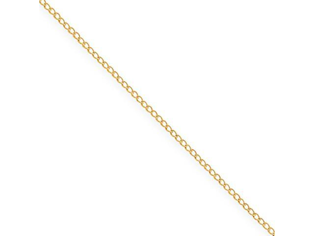 Sterling Silver Gold-plated Curb Chain