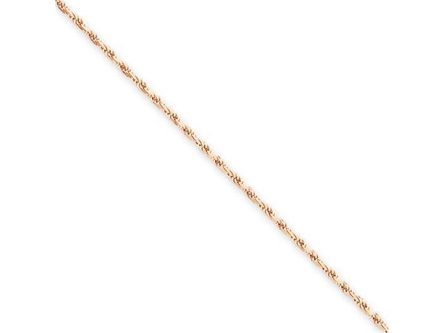 14k Rose Gold 1.8mm D/C Rope Chain