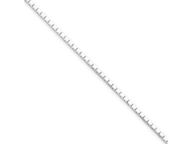 Sterling Silver 1.2mm 8 Sided Diamond-cut Mirror Box Chain