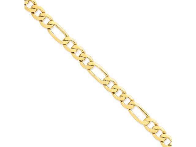 14k 8.75mm Flat Figaro Chain