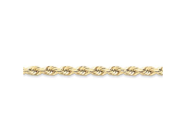 10k 6mm Handmade Diamond-cut Rope Chain